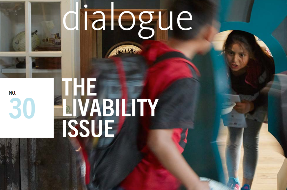 "July 2017 /  Ashley's ""How to Rewire Learning"" work, which researched the spatial implications of a rapidly shifting education landscape, is featured in Gensler's  Dialogue 30 : The Livability Issue  in an article  by Sarah Amelar, contributing editor at Architectural Record."