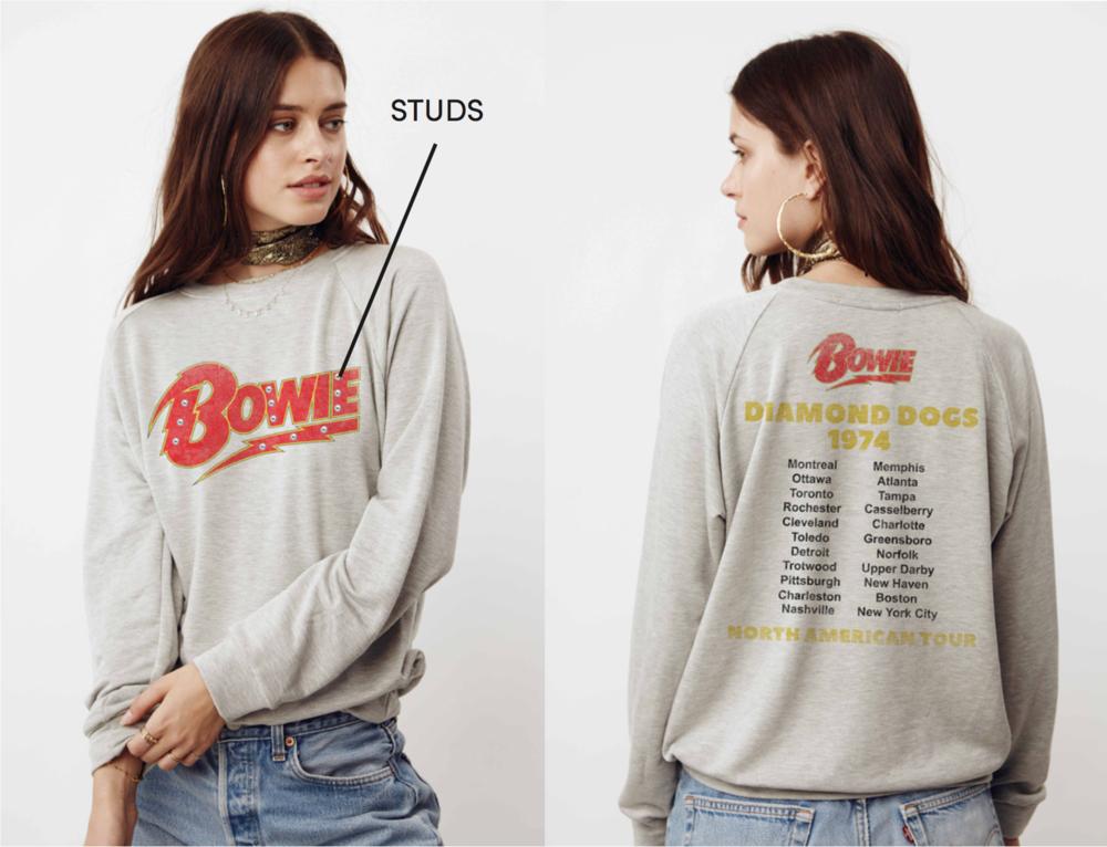 Bowie American Tour Sweatshirt  $110
