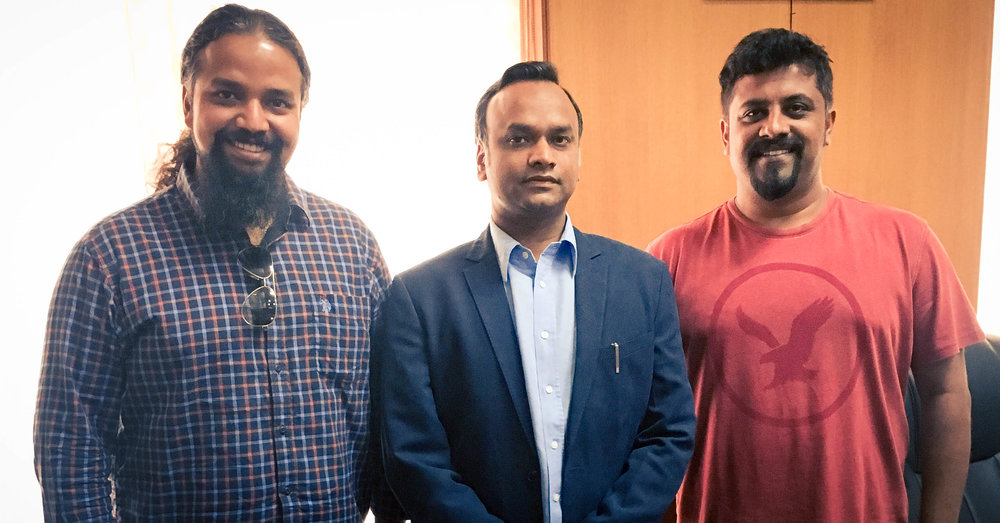 Raghu Dixit and Gaurav Vaz meeting Hon. Minister for Tourism, IT & BT, Government of Karnataka, Mr. Priyank Kharge to talk about the band's association.