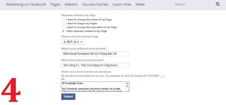 Cách mở khóa URL Fanpage bị Facebook chặn - Ảnh 4