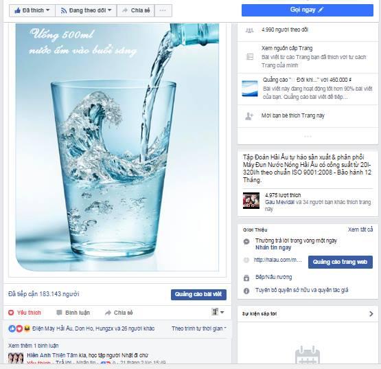 Reach tự nhiên trên bài post đạt tới 1.000% so với lượng like