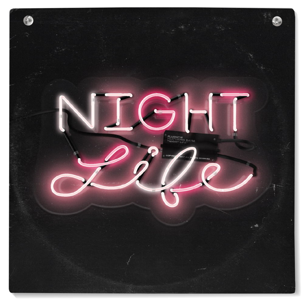 "Album cover for ""Night Life"" by Fluencie"