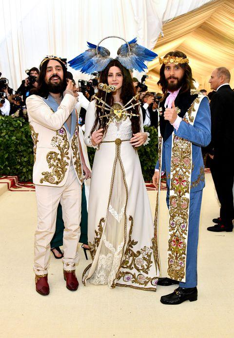 Alessandro Michele, Lana Del Rey and Jared Leto in Gucci