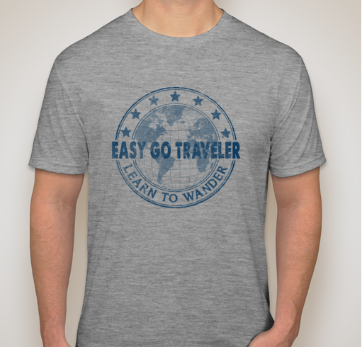members receive a free easy go traveler t-shirt. T-shirts may also be purchased for $15. Available sizes & colors may vary.  Contact us  to Request your order.