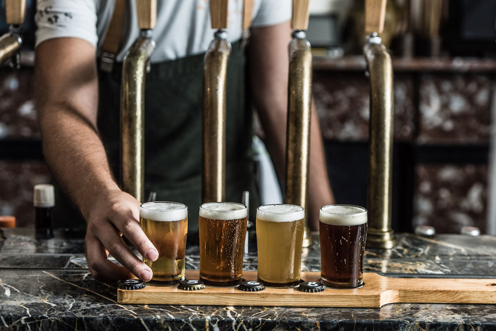 ENDEAVOUR TASTING PADDLE Your choice of four beer samples from our tap offering