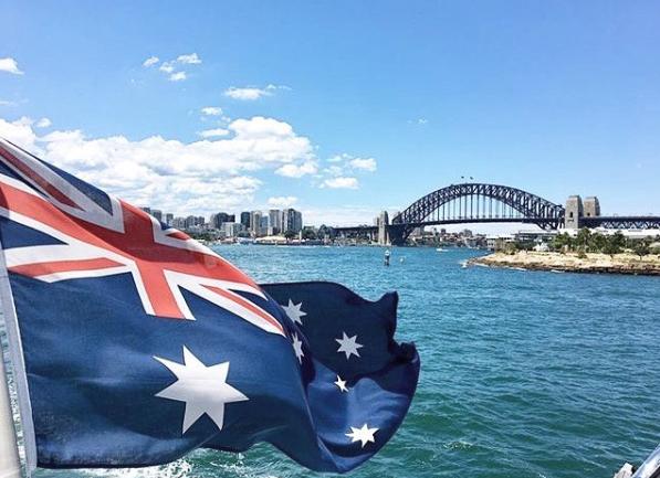 Australia Flag Harbour Bridge