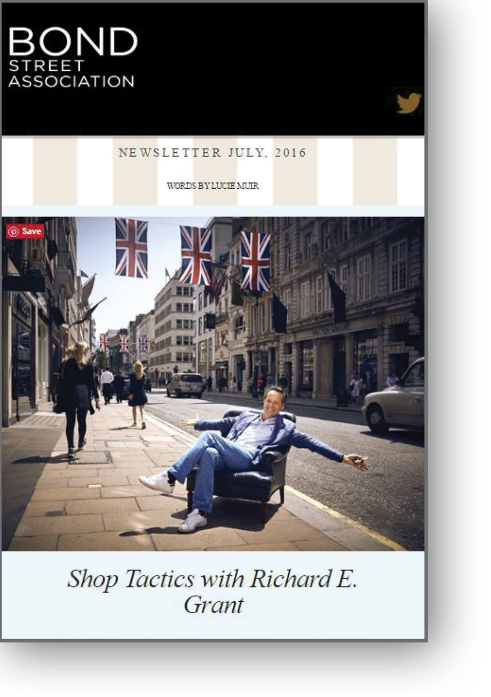 Shop Tactics with Richard E Grant