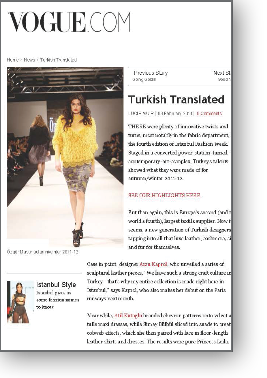 Istanbul Fashion Week Roundup by Lucie Muir