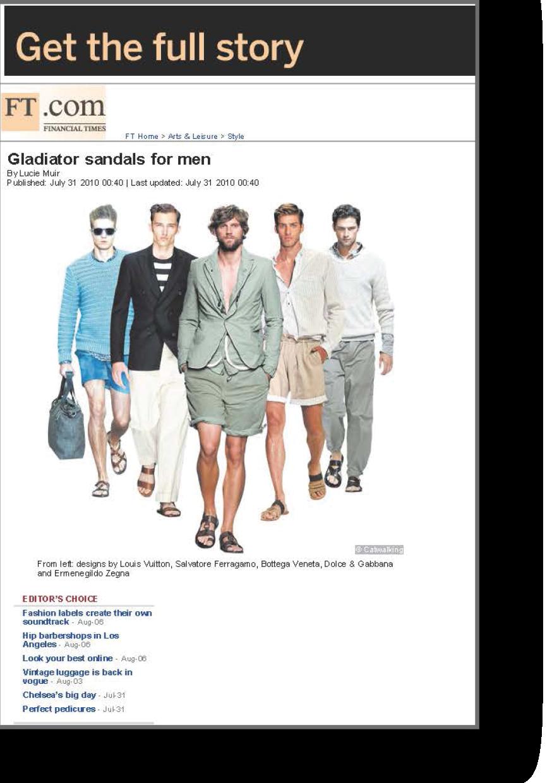 Gladiator sandals for men for the FT