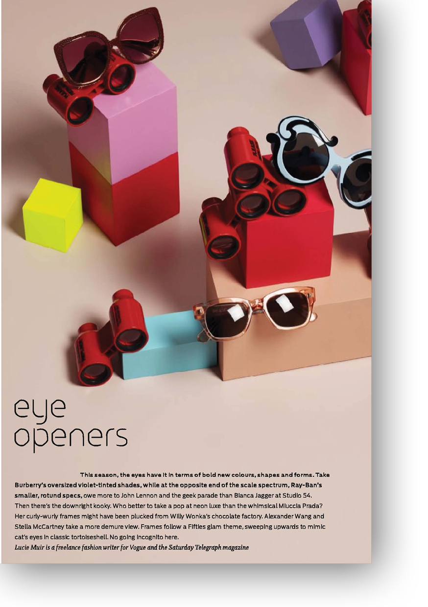 Article on Sunglasses for Telegraph magazine