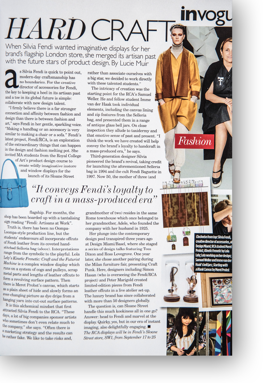 Article on Fendi for British Vogue