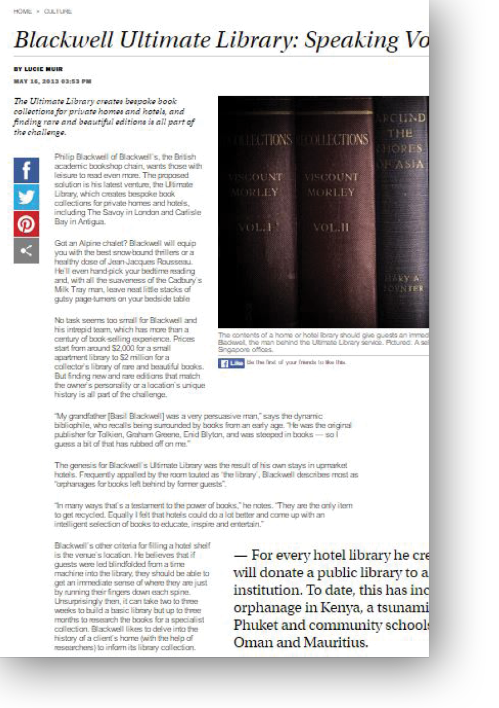 Blackwell Ultimate Library - Speaking Volumes by Lucie Muir