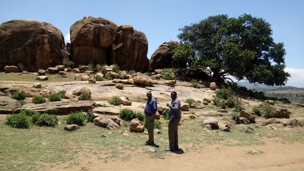 Jaslika Consulting co-associate Samuel Mukundi and research consultant Dennis Odhiambo enjoying the scenery while conducting field work.