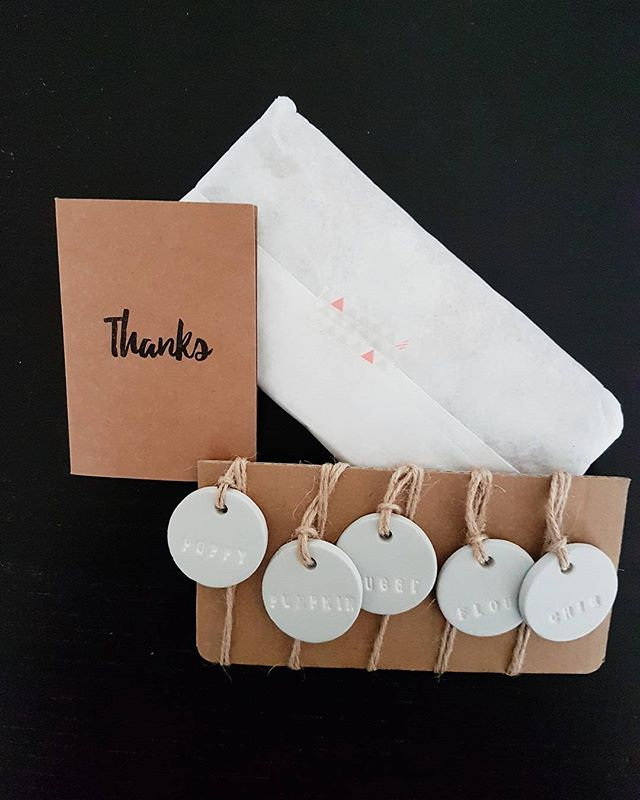 Opening the mail today was THE BEST!! Collaboration between @ellomellohandmade and I coming on the blog next week! You need to check out her etsy page, my picture doesnt do them justice! #overexcited #socute #inlovewithclay #tags