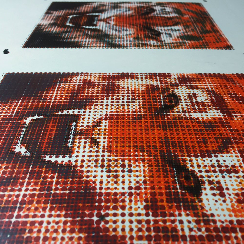 letterpress, halftone, 5/0