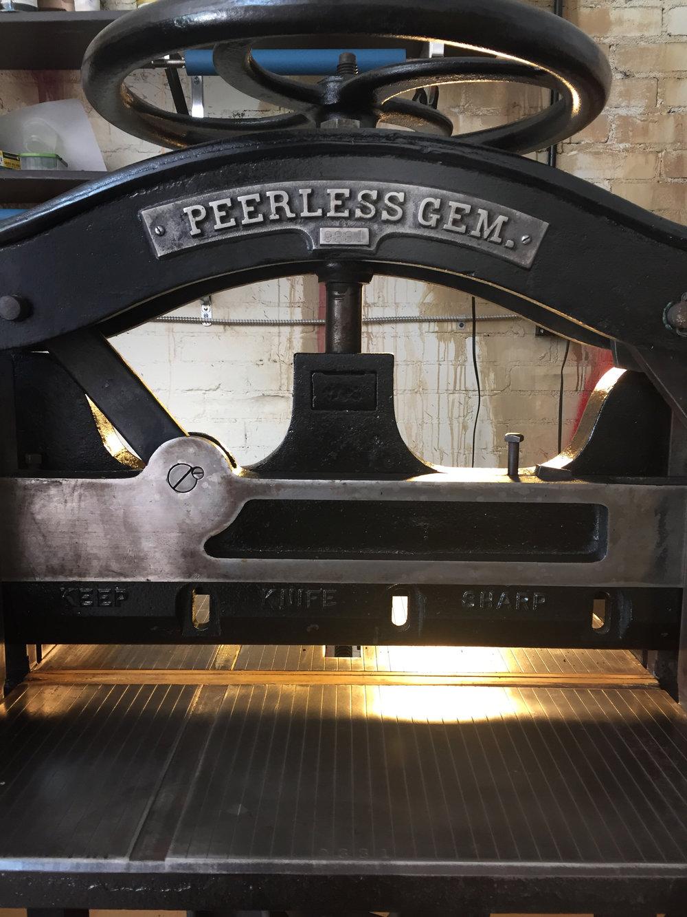 letterpress, gem peerless