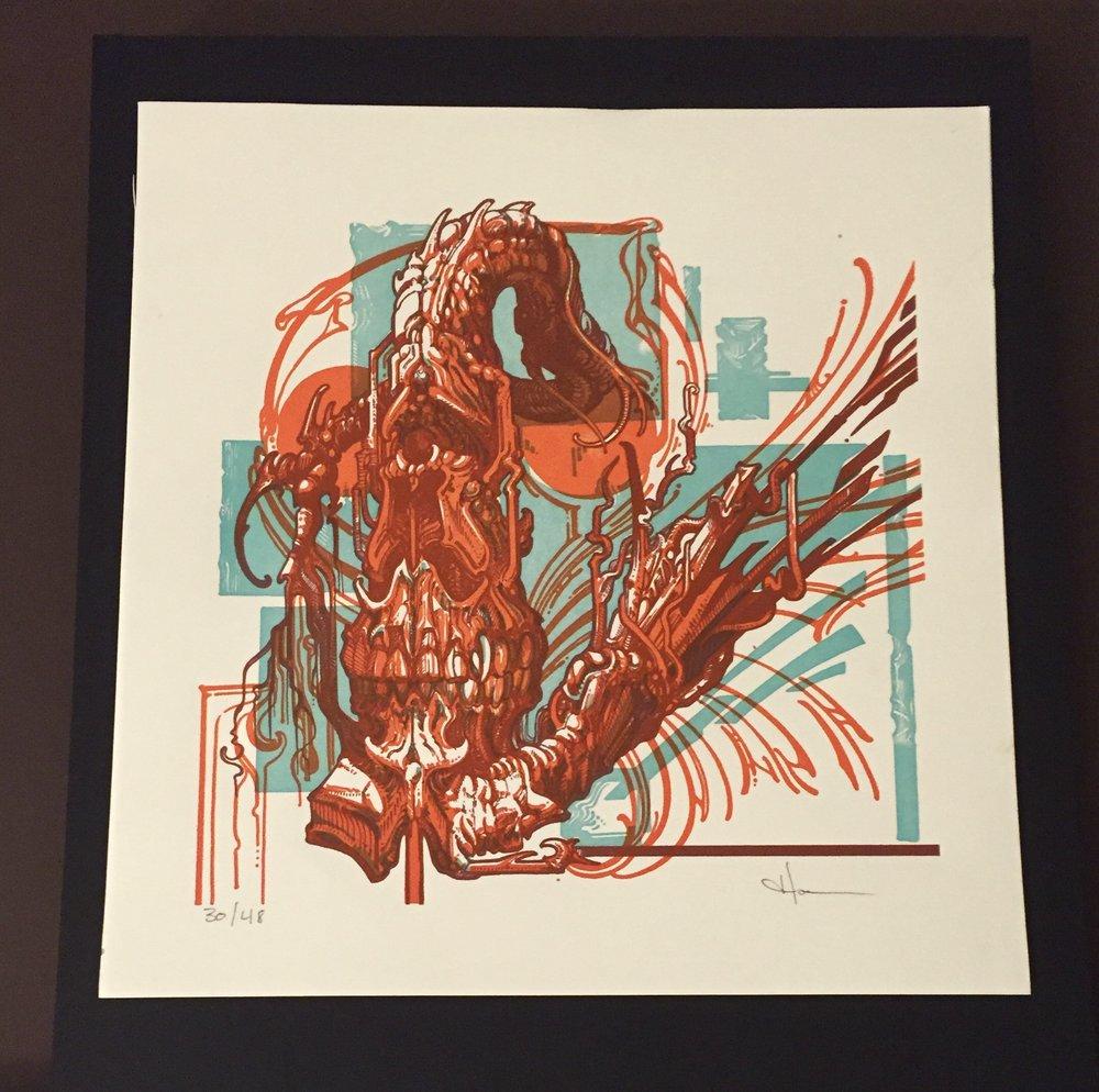 letterpress, relief print, 4/0