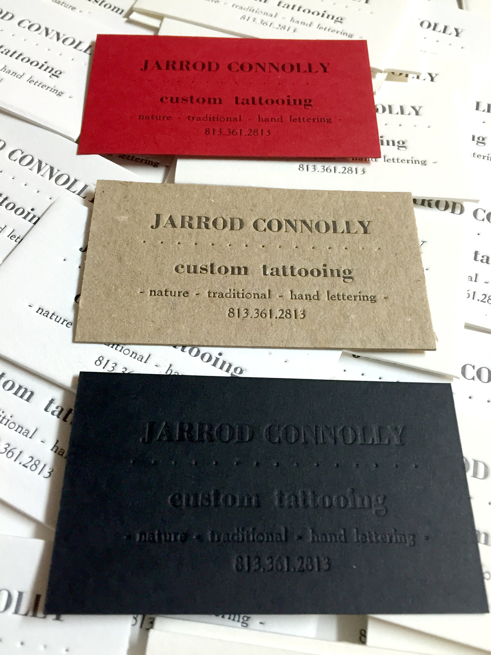 letterpress, custom business cards