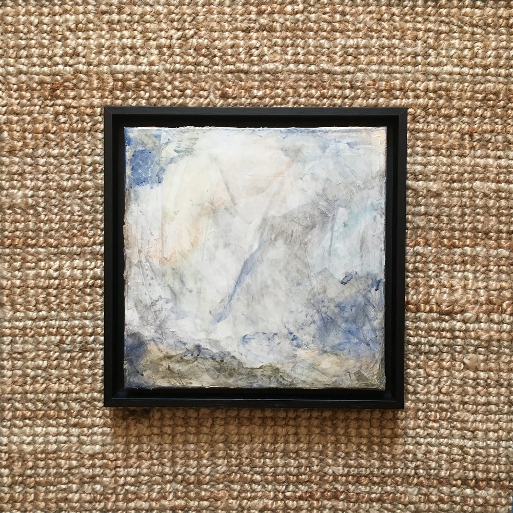 thin black frame on 2cm deep wrapped canvas