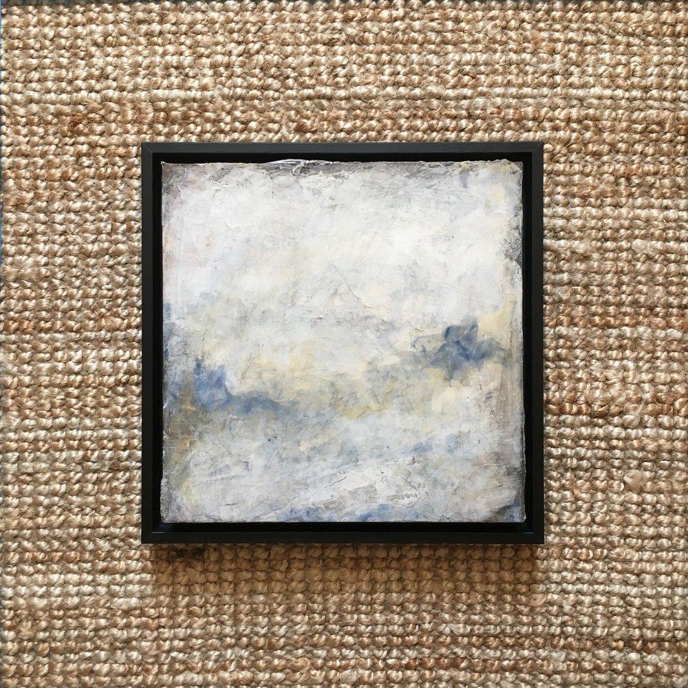 thin black frame on 4cm deep birch panel