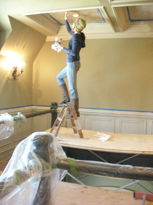 Interior Artistry // coffered ceiling faux finish // Spring 2008