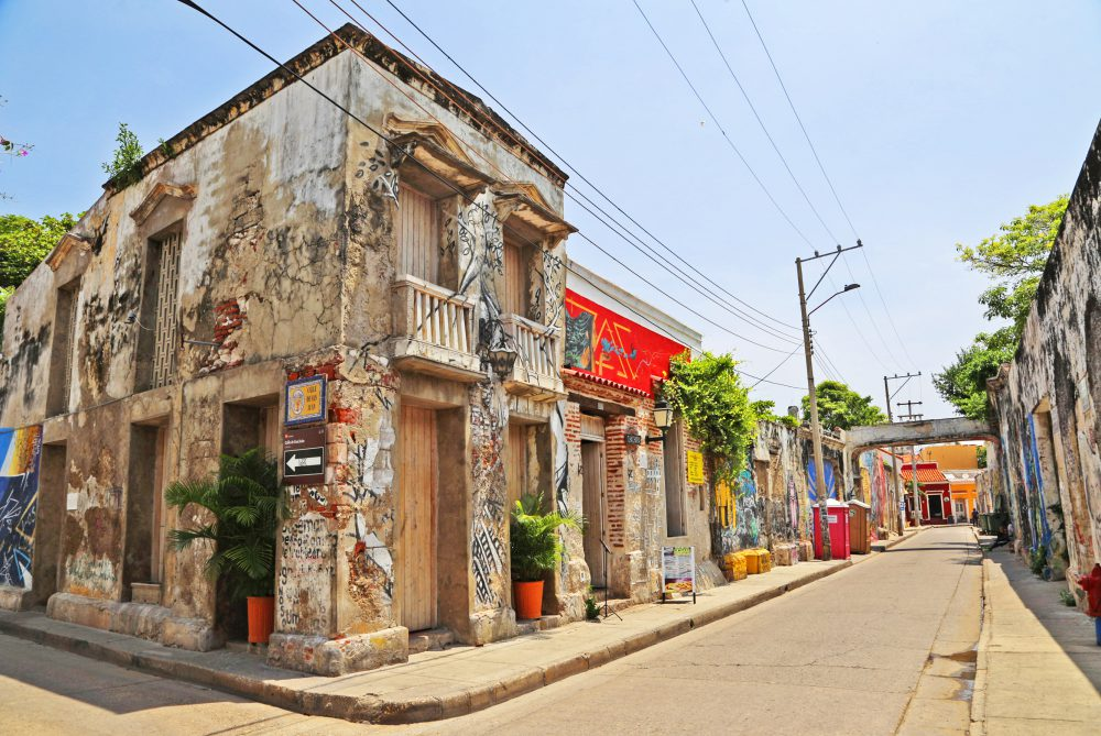 Getsemani streets - lots of street art and color