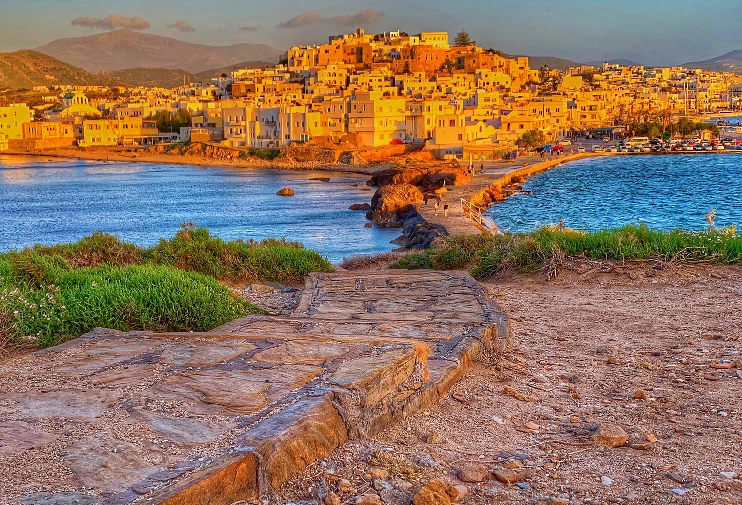 Incredible photo of Naxos from the Portara taken by my friend Amy Osterburg, who visited the week before us.