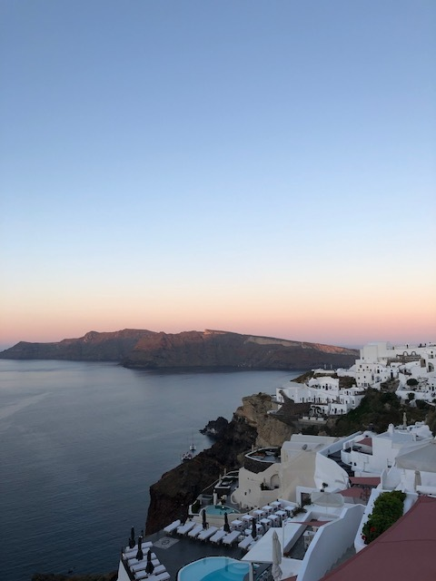 Santorini sunrise from Kaleidoscope Cave Houses