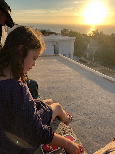 Yes, playing more UNO - waiting for the sun to set. Was really beautiful!