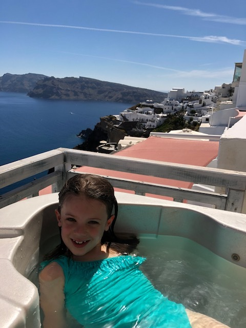 We spent a few hours in the hot tub - Olivia had a BLAST. Tip - use lots of sunscreen, the sun is intense and I saw many burned tourists.