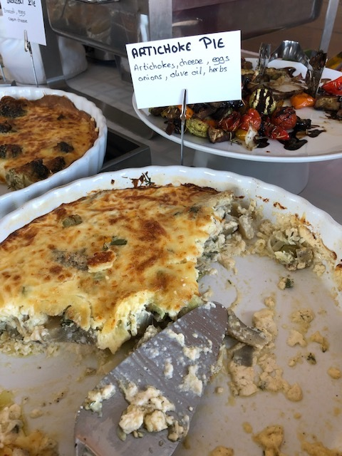 I will dream about this artichoke pie at The Hotel Grotta - best food I've ever had!