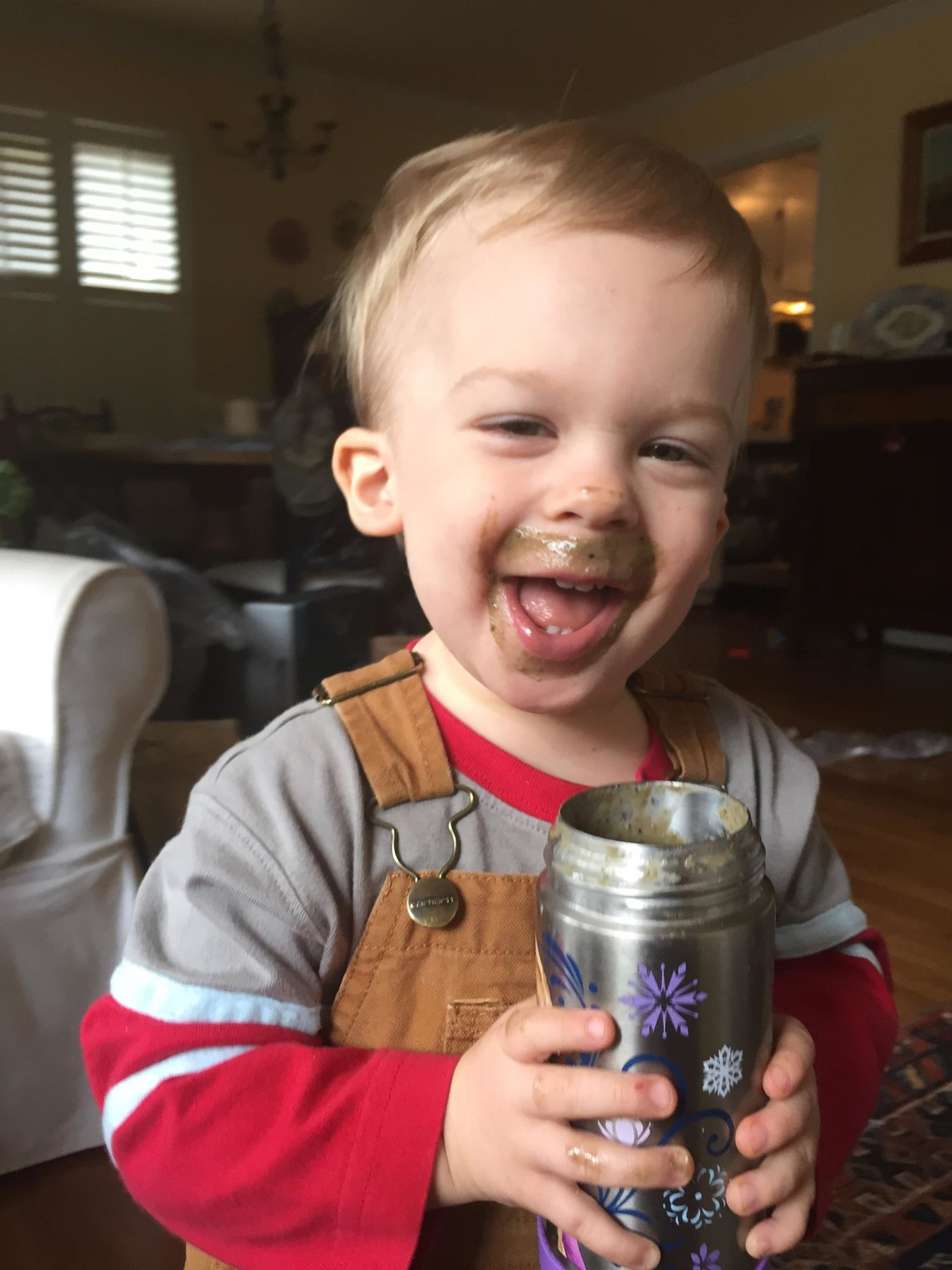 Favorite throw back photo of Teddy at age 1.5 with smoothie face - I LOVE that he loves green smoothies so much!!