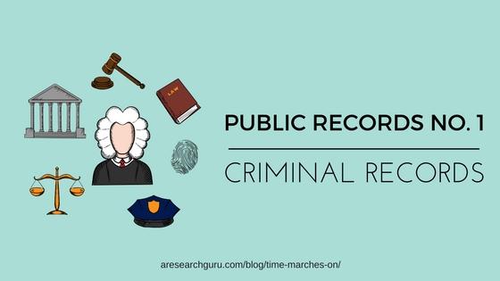1 criminal records a research guru
