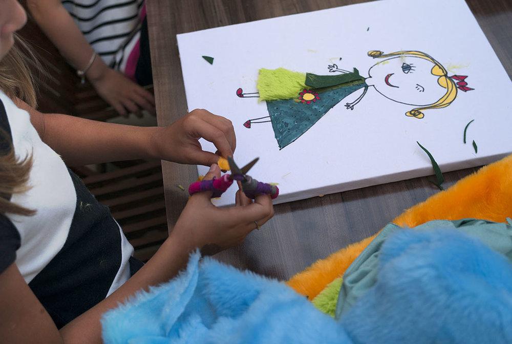 Desenho da criança.