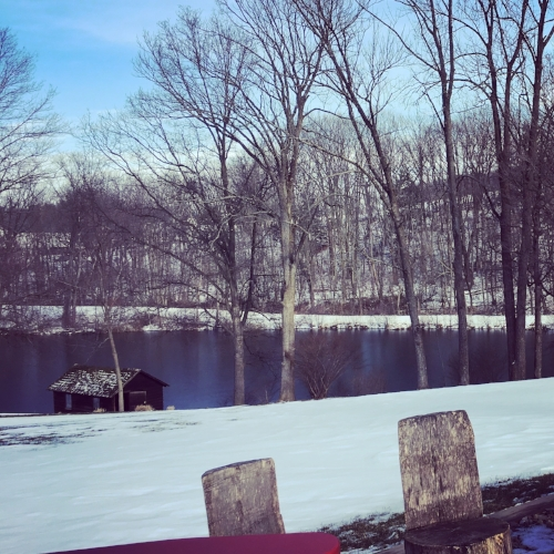 My destination was Lakeside Writing Retreat, window of heaven. 6 inches of snow, Thank you Jesus.