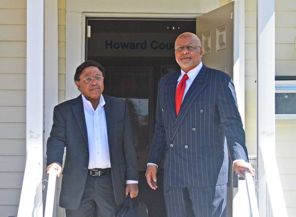 Retired Patent Attorney Allen J. Kennedy with executive Director Patrick o'guinn,Sr.,Esq.