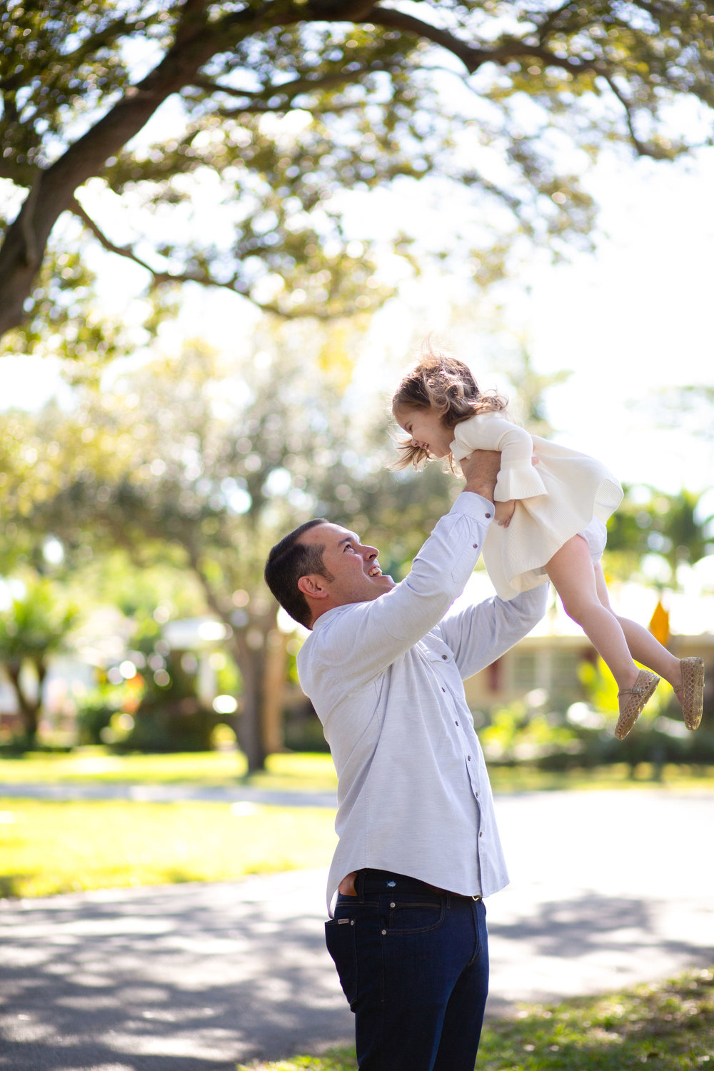 dad and daughter family shoot