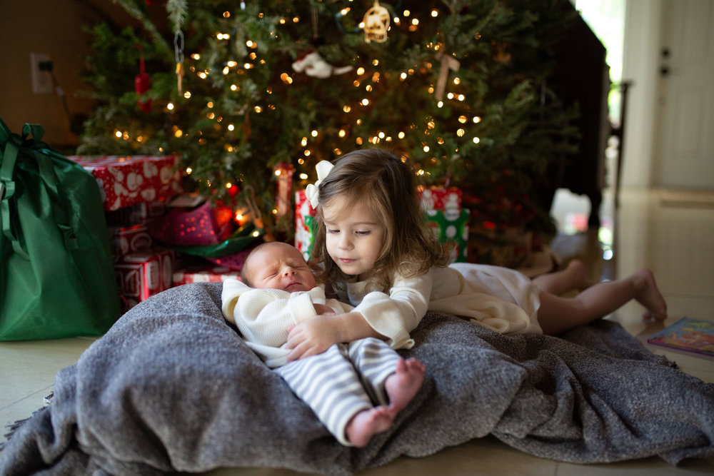 newborn sibling christmas