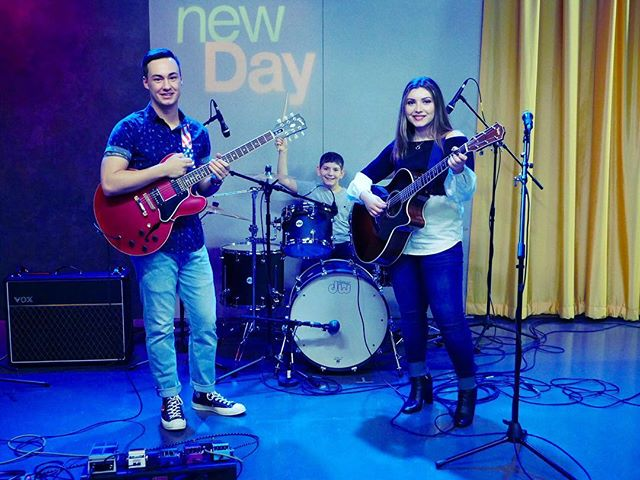 Thank you thank you thank you King 5 New Day NW for having us on this morning ❤️ We had an awesome time. Being on TV is so much fun!! 😊  Check out the link to our performance in the bio • • #exapsos #tv #king5 #nbc #newdaynw #music #alternativerock #rockers #rocknroll #guitars #pnw #seattlemusic #unknotted #newalbum