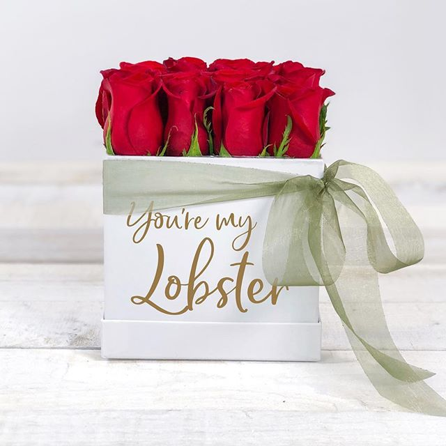 Who's YOUR lobster? 🦞Follow us & tag your Ross or Rachel for a chance to win a Large Bloom Box (to be claimed after Valentine's)♥️ #tagyourlobster #theresabloomboxforthat