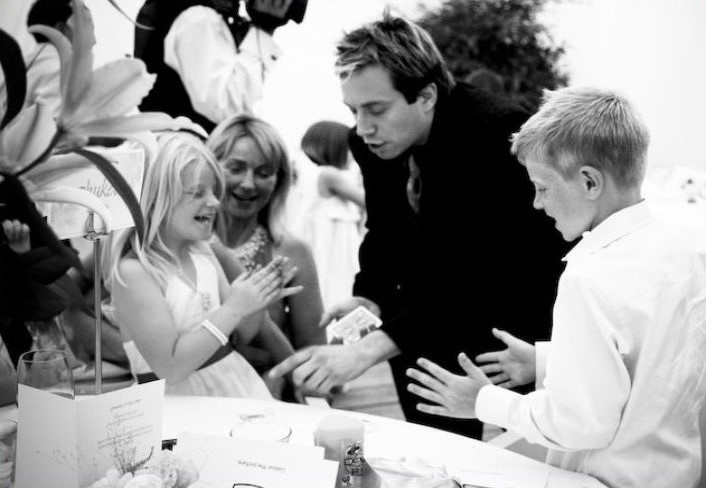 Matthew entertains children, ideal for christenings
