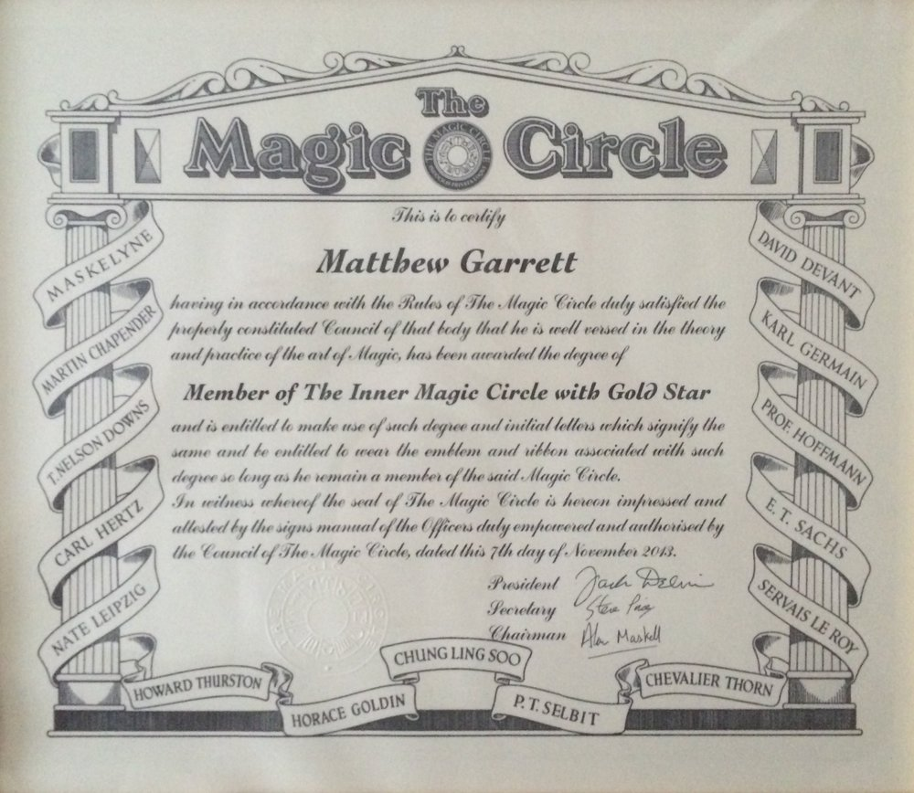The Magic Circle, Close Up Magic