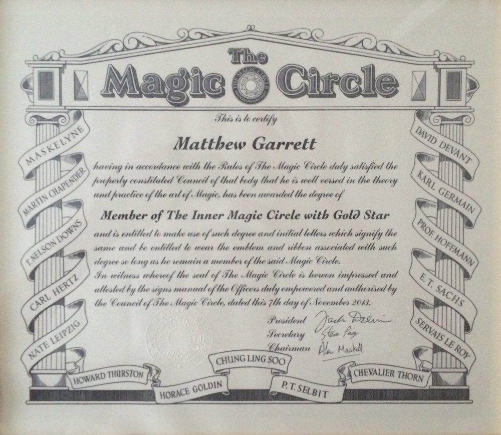 Magic Circle Magician Northampton