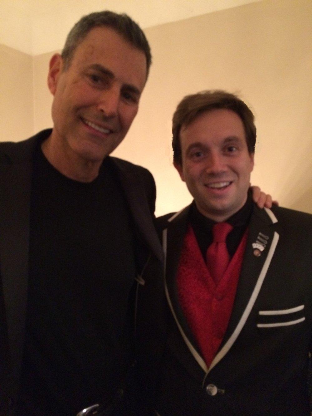 Uri Gellar performing with Matthew