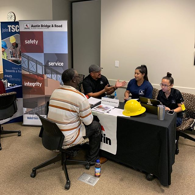 Some of the contractors who attended the TCCA East Dallas job fair.