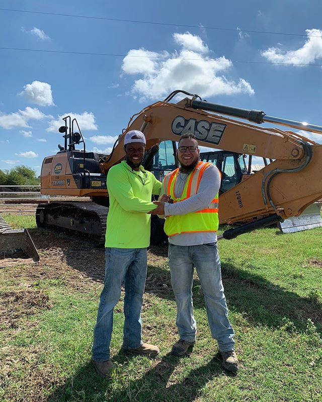 September 2018 graduates of the Txdot TCCA program Brothers Jacob and Ernesto are currently employed with Fluor Heavy Civil as Heavy Equipment OJT/SS trainees.