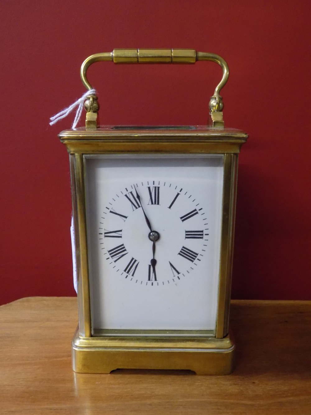 8 Day carriage clock with twin train striking £340.00