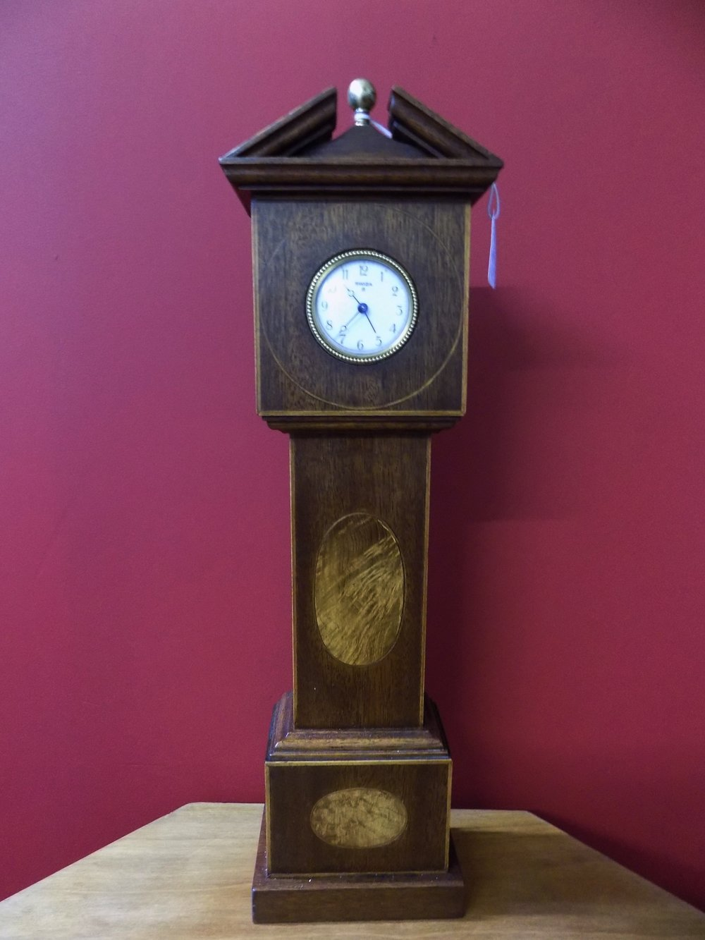 A miniture mahogany Grandfather clock £90.00