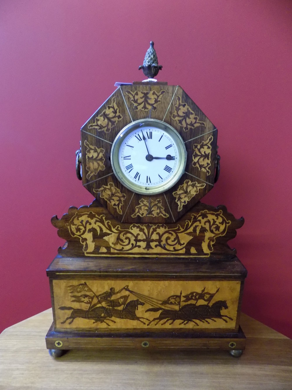 American inlaid mantel clock £240.00