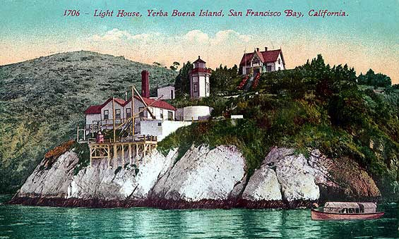 The Light House on Yerba Buena Island in reproduction dated 1706.